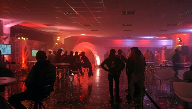 A foggy VIP room