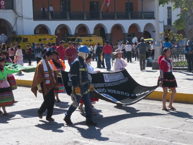 People feel save enough to put on seemingly daily parades, as everywhere in Peru!